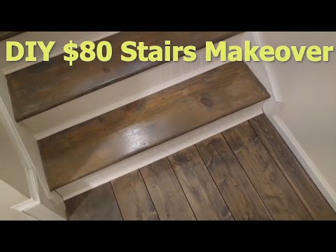 CHEAP DIY $80 Stairs Makeover