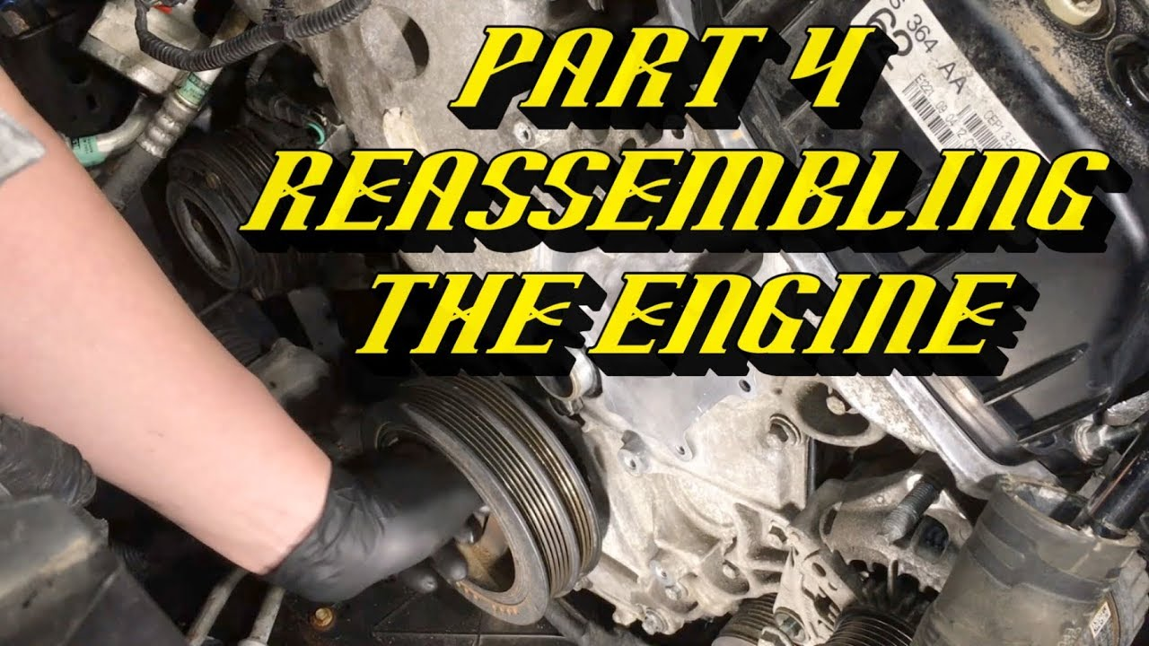 ford f 150 3 5l ecoboost timing set replacement part 4 reassembling the engine [ 1280 x 720 Pixel ]