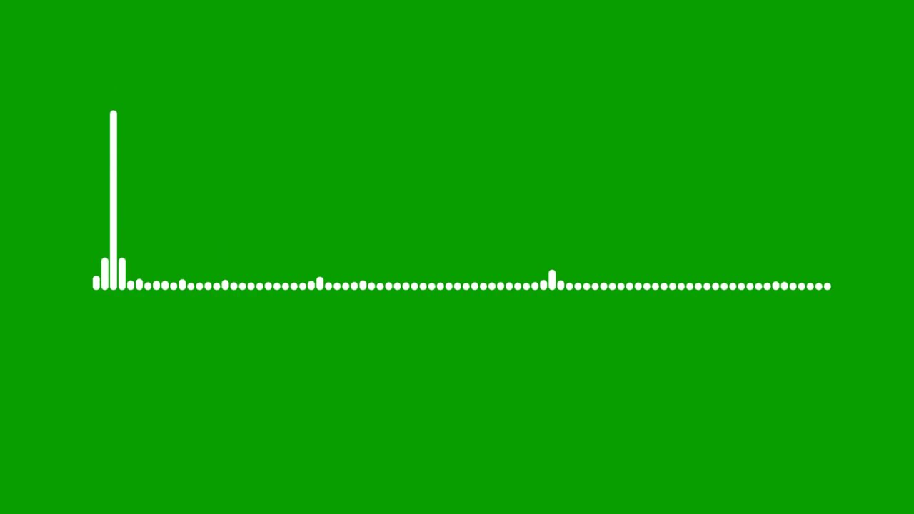 New green screen line audio spectrum #1