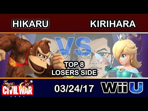 2GGC: Civil War - Hikaru (Donkey Kong) Vs. Kirihara (Rosalina) Top 8 Losers Side