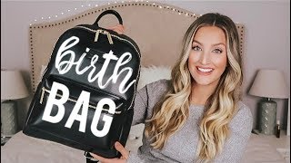 WHAT'S IN MY HOSPITAL / BIRTH CENTER BAG | Must-Haves for Natural Birth | Becca Bristow