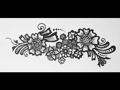Henna Tattoo Arabic Henna Strip Design Simple Mehendi On Paper