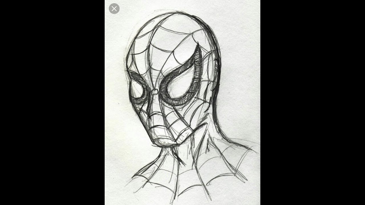 How to draw spiderman pencil sketch easy drawing tutorial