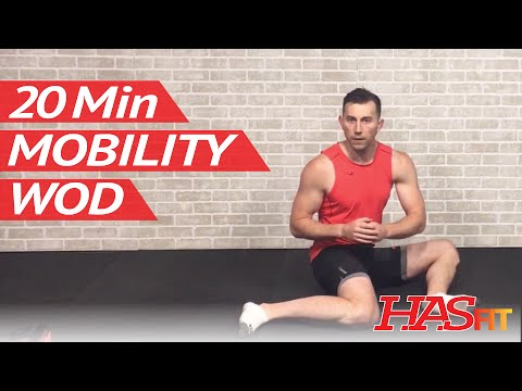 20 Min Beginner Mobility WOD by HASfit - Shoulder, Hip, Ankle, Thoracic Spine, & Wrist ROM