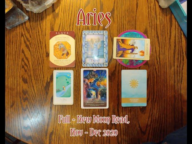 ARIES: FULL - NEW MOON 7 CARD DRAW= TRUST + HEALING + SPIRITUAL CONNECTION - NOV-DEC 2020