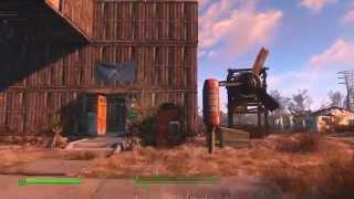 Fallout 4 Полный набор торговых лавок, огород, Трёх этажный дом для поселенцев.