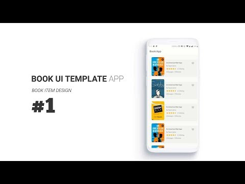 Book App UI Template Ft. Recyclerview Custom ItemAnimator, Shared Element Transition