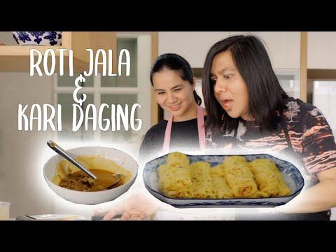 Resepi Roti Jala & Kari Daging - YouTube