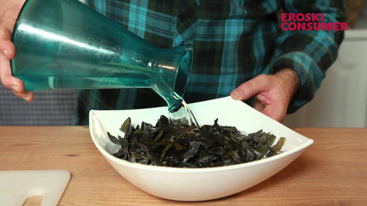Recetas con algas secas