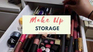 How I Organize My Make Up | Beauty Storage | justineivette