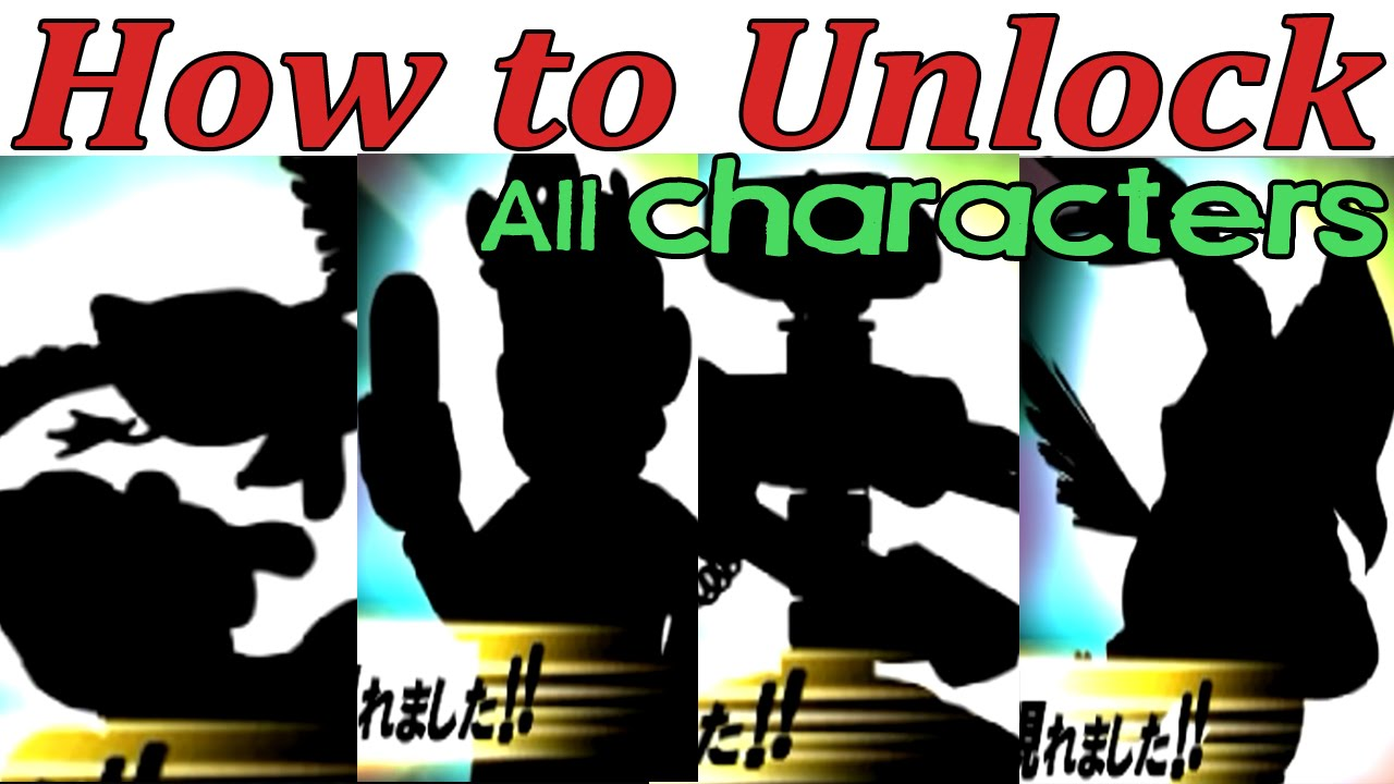 How to unlock all hidden characters in super smash bros 3ds youtube