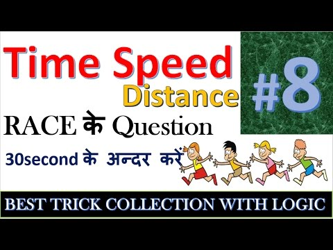 time speed distance aptitude tricks in hindi  #8 for ssc cgl,mts,cpo si,ibps po,clerk,tet,RRB,upsc