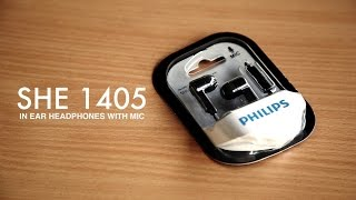 Philips SHE 1405 In Ear Headphones With Mic Unboxing, Review, Sound test