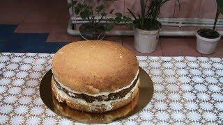 Делаем пломбирный крем и собираем торт