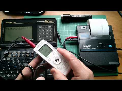 Digital Voice Recorder as a Data Cassette Recorder