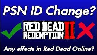 PSN ID Change ęffects on Red Dead Online