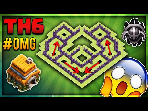 """OMG""BRAND NEW 2018 INSANE TOWN HALL 6(TH6) TROPHY/MASTER/CRYSTAL BASE-Clash Of Clans"