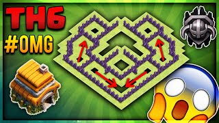 """""""OMG""""BRAND NEW 2018 INSANE TOWN HALL 6(TH6) TROPHY/MASTER/CRYSTAL BASE-Clash Of Clans"""