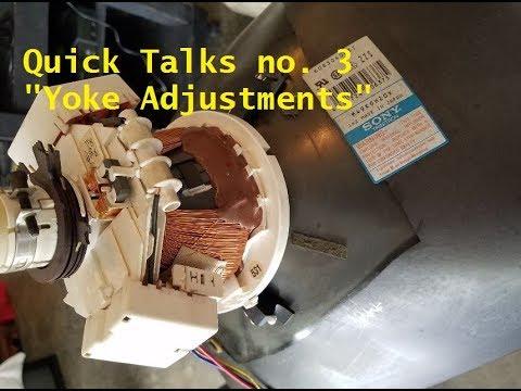 CRT fix screen tilt - Yoke Adjustment Sony PVM