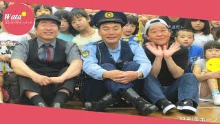 お笑いトリオのダチョウ倶楽部が、18日、東京・尾久西小学校で、小学...