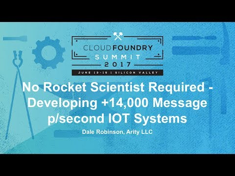 No Rocket Scientist Required - Developing +14,000 Message p/second IOT Systems
