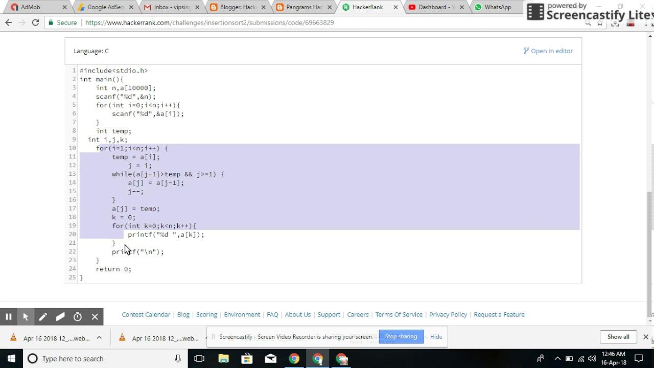 Hackerrank C Programming Solutions