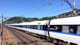 683系0番台+683系0番台 特急サンダーバード7号金沢行き 島本駅通過