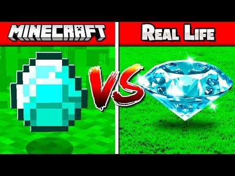 REAL VS FAKE MINECRAFT CHALLENGE!