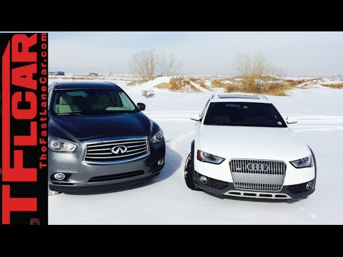 2015 Audi Allroad vs Infiniti QX60 Mashup Snowy AWD Review in TFL4K