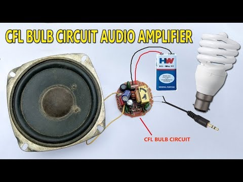 How to Make a Audio Amplifier | Using Old CFL Bulb | Very
