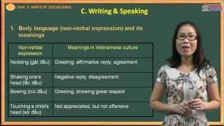 English 12 - Ways of socialising - Writing & Speaking