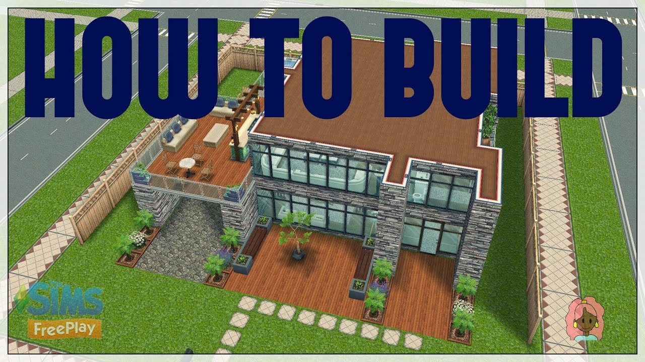 Sims Freeplay How to build Modern house