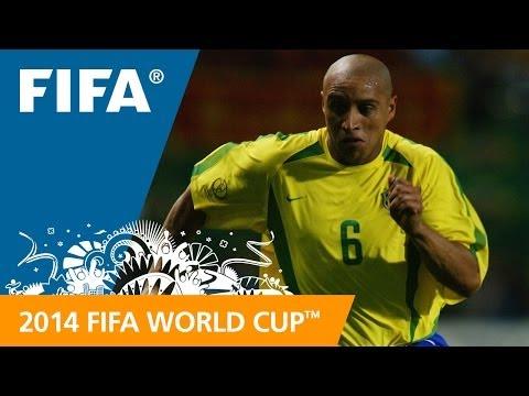 Roberto Carlos free kick '02 - #87 Days to FWC Brazil 2014