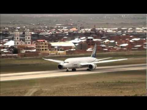 Boeing 787 Dreamliner First  Flight Test in Bolivia