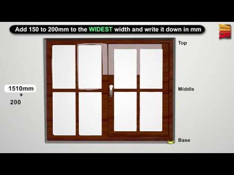 How to measure for Facefix (Outside)  fitting blinds