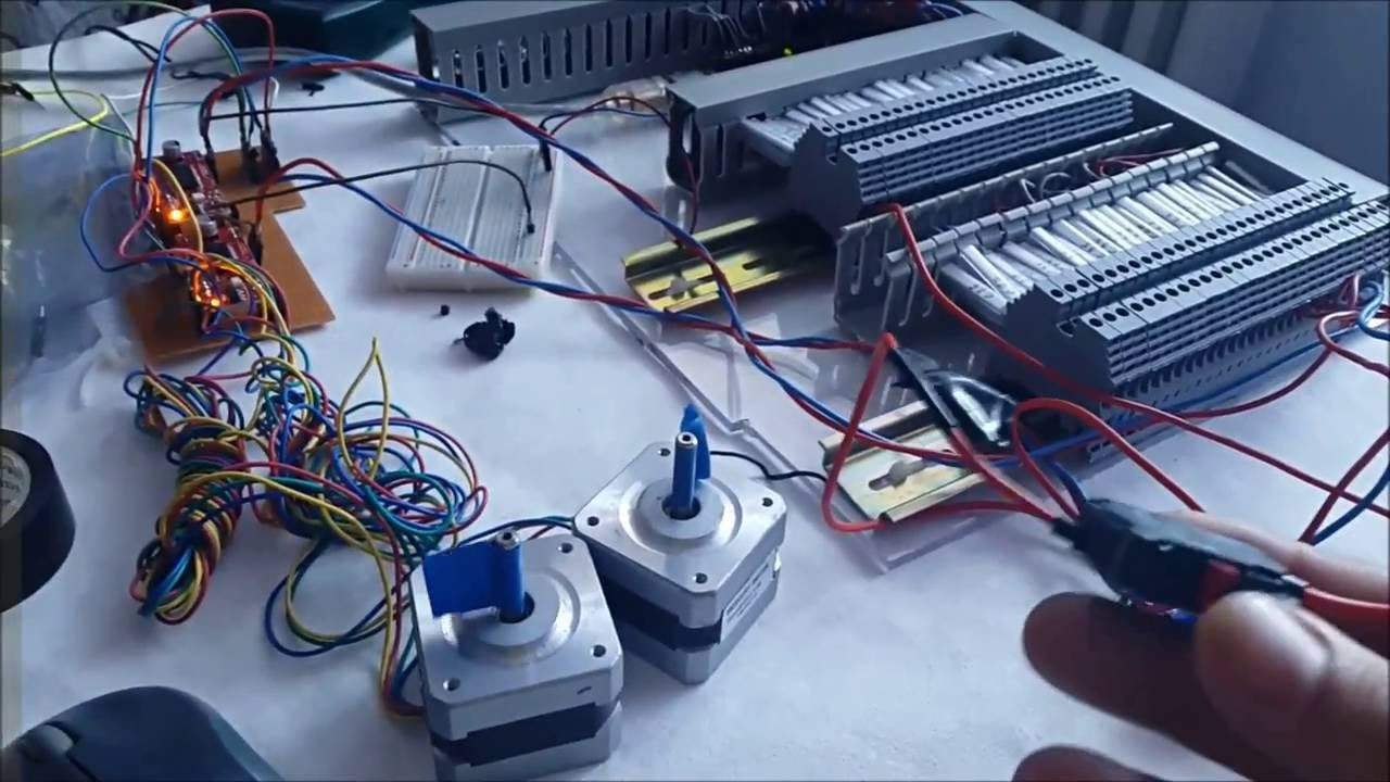 C arduino mega 12 stepper motors control youtube for Mega motors loop 12