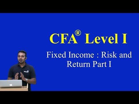 CFA Level I- 2015 -Fixed Income : Risk and Return Part I(of 4)