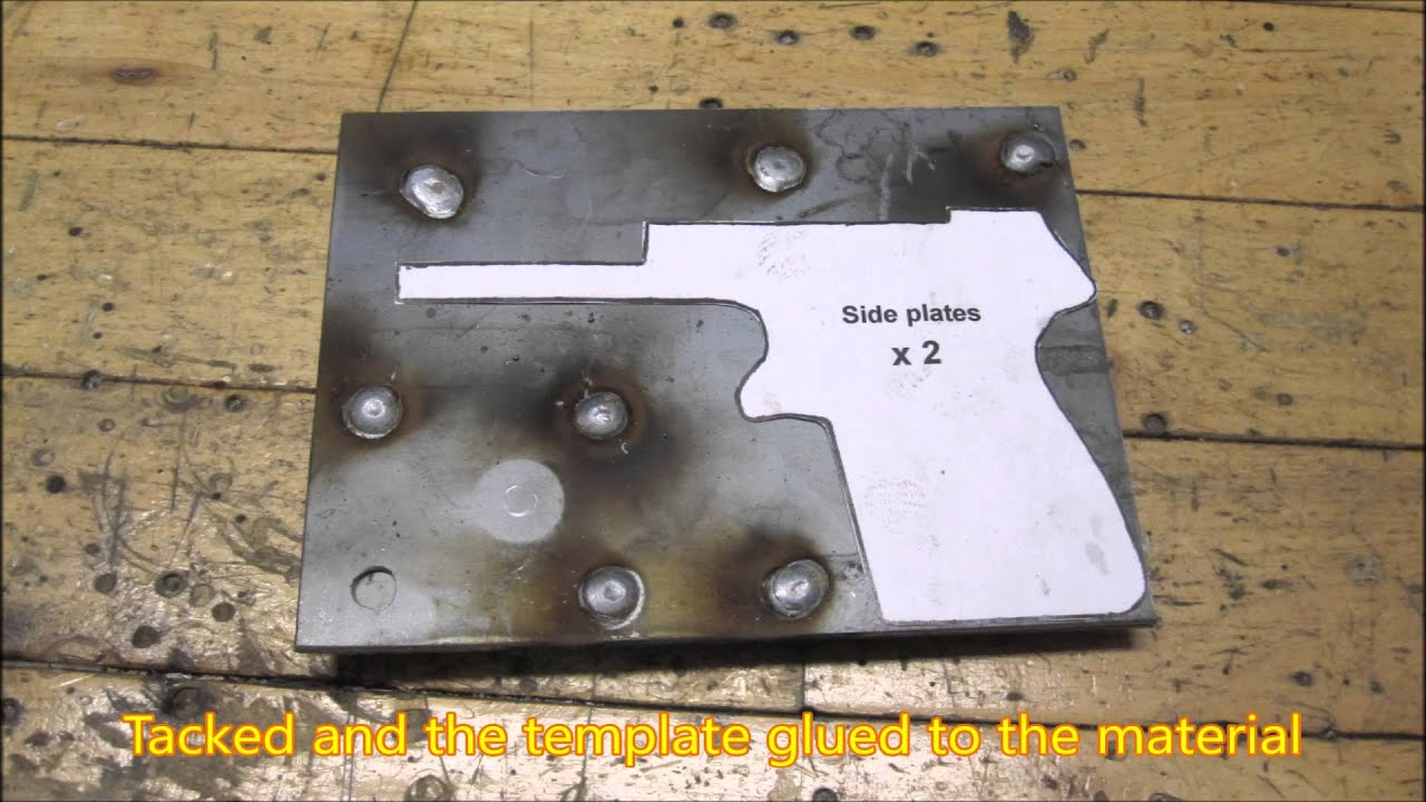 Diy Sheet Metal Self Loading Pistol Episode Ii Frame