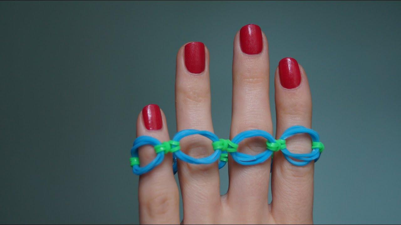 Браслеты и кольца из резиночек