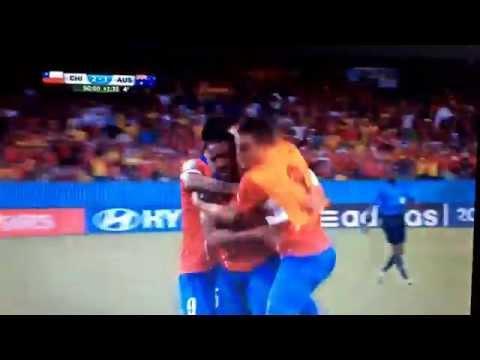Bonini Gritando como un Chileno más... Chile 3 Australia 1