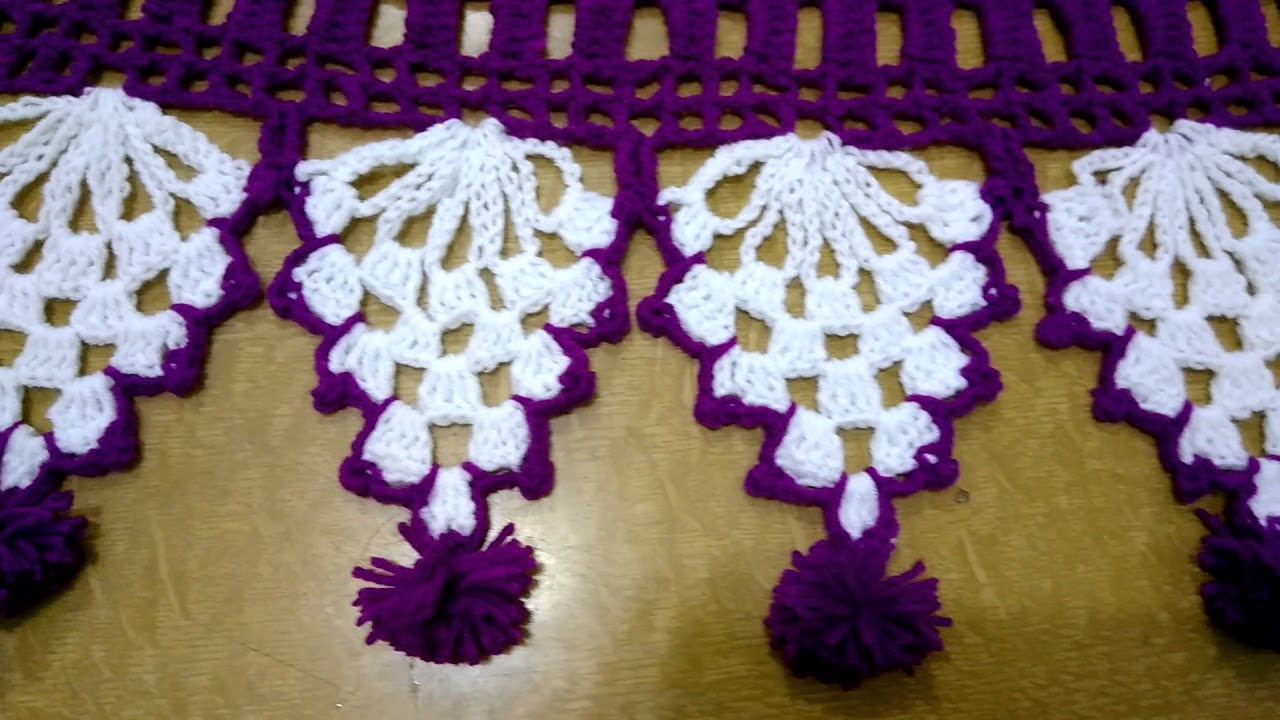 Crochet art#door hanging#toran design work from wool# ...