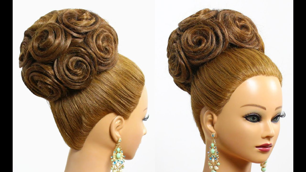 Hairstyle  for long hair  tutorial Bridal updo  with