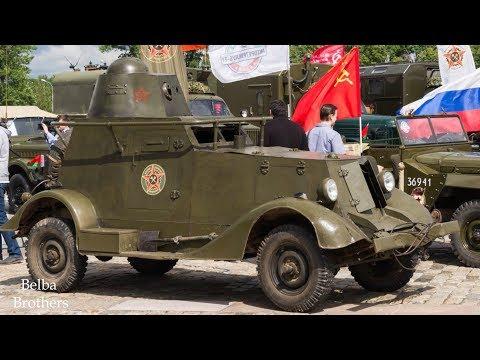 Бронеавтомобиль БА-20. Дорога Мужества на Поклонной горе. Военно-Техническое Общество