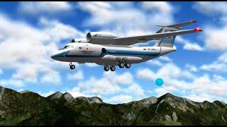 Самолет Ан 74 Посадка в Альпах X plane