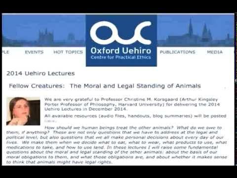 Uehiro Lectures 2014 (lecture 3)--Christine Korsgaard, Harvard University (Audio only)