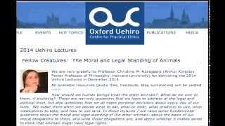 Uehiro Lectures 2014 (lecture 3)--Christine Korsgaard, Harvard University (Audio only) Thumbnail