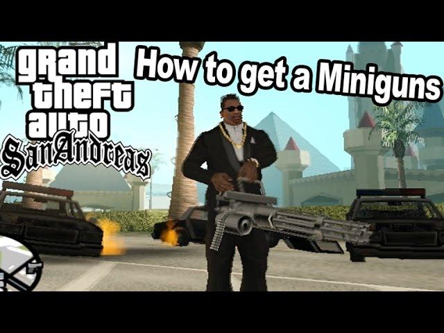 Gta San Andreas How To Get Miniguns Youtube