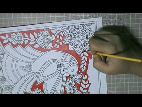 How To Draw Peacock Easy Madhubani Art Step By Step