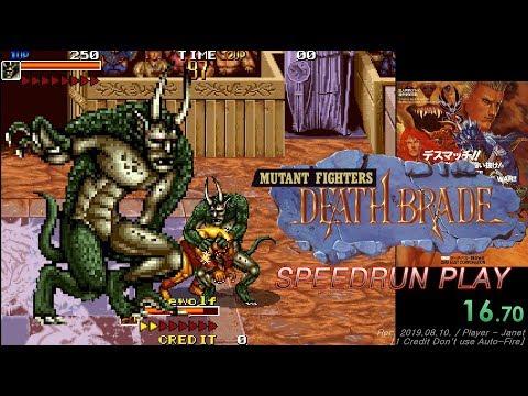 Mutant Fighter - Beast Speedrun 1 Credit Don't use Auto-Fire (15:08:89) / 데스 브레이드-뮤턴트 파이터 스피드런