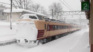 [Heavy Snow Station] 雪の妙高高原駅 Myoko-Kogen Station (信越本線/JR東日本) 2013.2.16